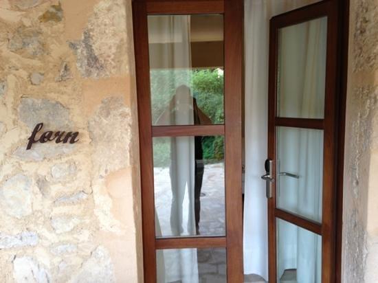 Agroturisme Son Simo Vell: la porte d'entrée de la chambre forn