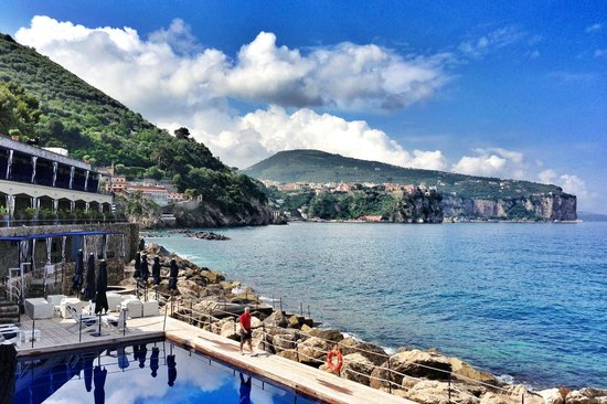 Capo La Gala Hotel & Spa: From the restaurant terrace - looking towards Vico Equense