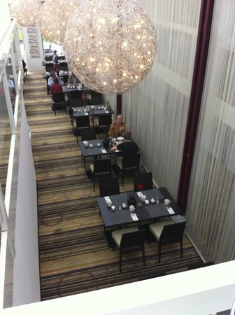 Best Western Plus Hotel Fellbach-Stuttgart: The dining area is separated just by a curtain but, it's ok.