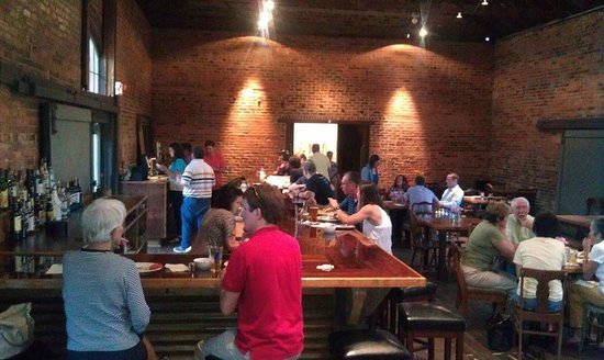 Cheaha Brewing Company LLC : Indoors, the bar at Cheaha Brewing Company