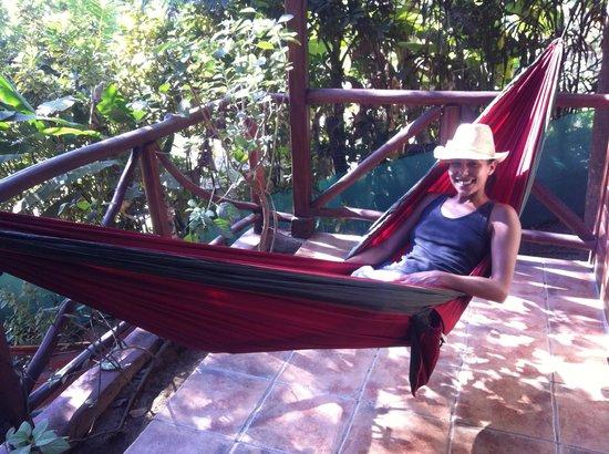 Hotel Raratonga: Disfrutando de la terraza