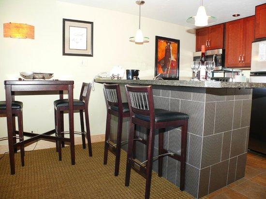 The West Condominiums: Sample Kitchen Area in a Studio
