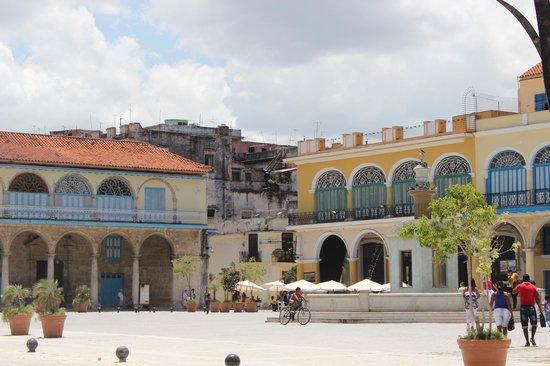 Hostal Plaza Vieja : la casa vista dalla bellissima Plaza Vieja