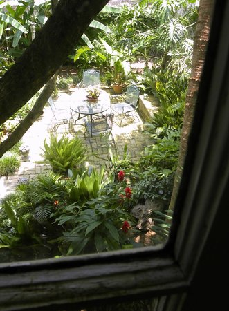 Southern Comfort Bed and Breakfast: View of Patio from Our Room