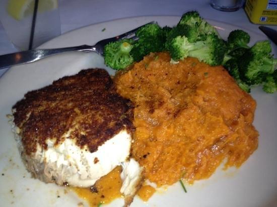 Big Fish Grill: swordfish / sweet potato mash