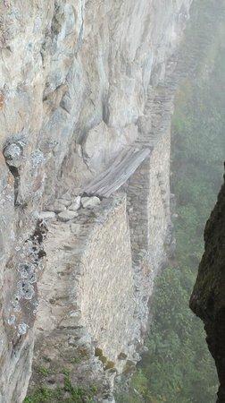 Inca Bridge : Inca drawbridge at Machu Picchu