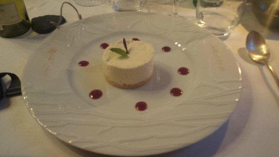 Restaurant du Chateau de Brelidy : Cheese Cake au chocolat blanc