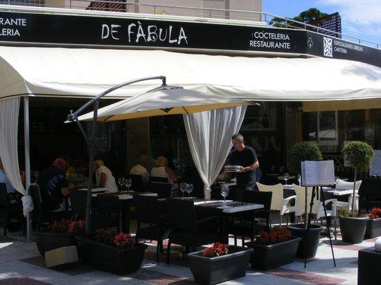 Restaurante de Fabula Mediterranea : Heerlijk terras bij de Fabula
