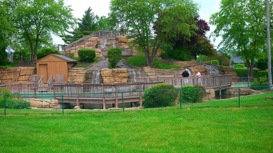 Fairfield Fun Center: The Mountain Mini Golf Course from Afar