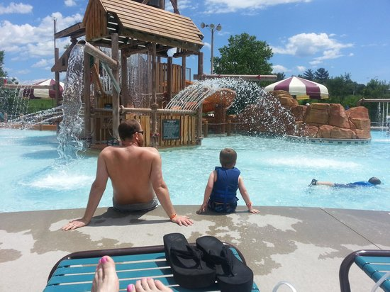 Great Wolf Lodge: The oudoor kids area
