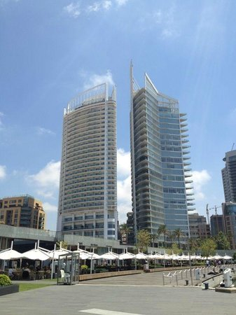 Four Seasons Hotel Beirut: View of four Seasons (left) from Zaytuna Bay