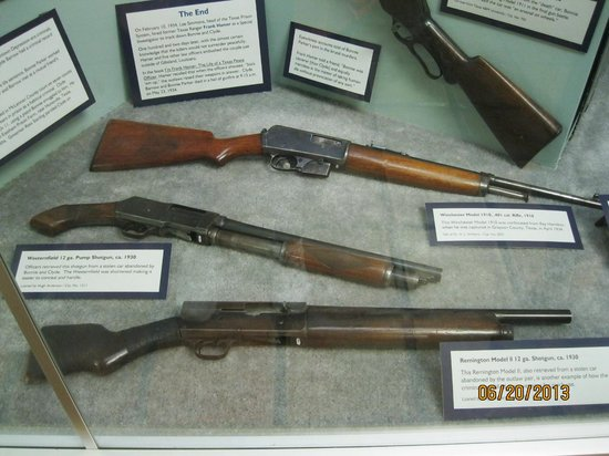 Bonnie and Clyde's guns - kuva: Texas Ranger Hall of Fame