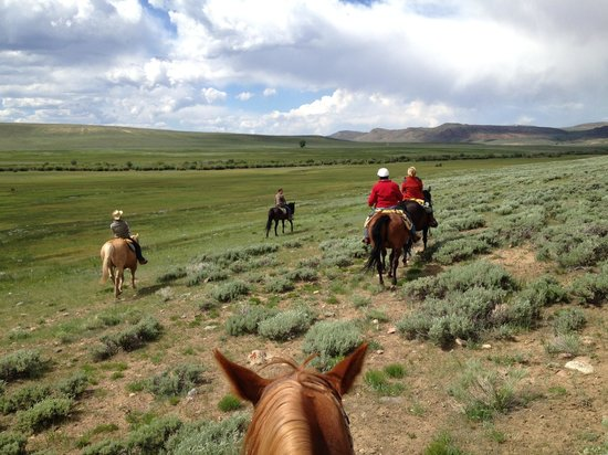 Laramie River Dude Ranch: One of many lovely rides