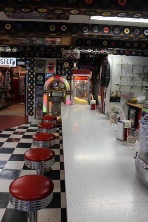 The Brick Store: ice cream counter
