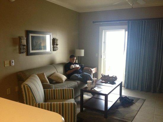 Holiday Inn Club Vacations Galveston Beach Resort: Living Room