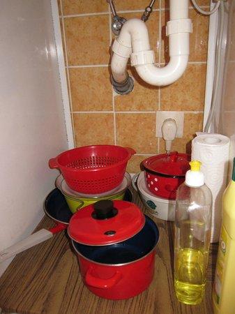 Hotel Faisst: kastje voor de kook potten