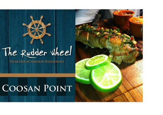 The Rudder Wheel: Tenderloin of Pork,Marinated for 48 hours in Garlic,Lime and Chilli, served with apple chutney a