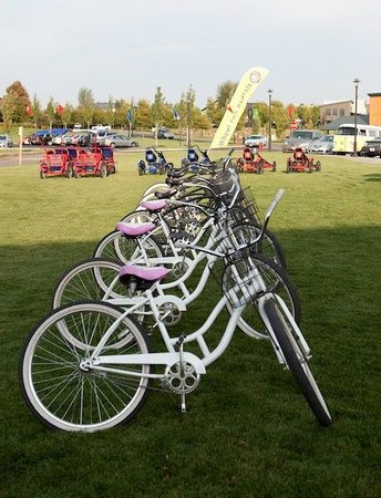 Wheel Fun Rentals - Bend: The bikes are lined up and ready to go!