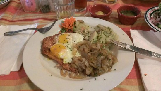 The German Cafe: Leberkäs with potato salad. It was delicious!