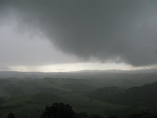 La Collina degli Olivi: Morning storm from bedroom window