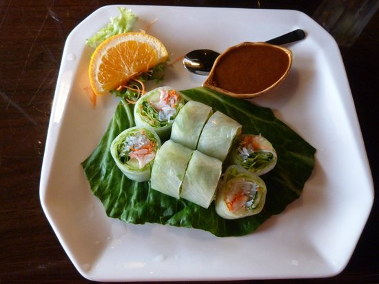 Koon Manee Thai & Sushi Restaurant: nicely prepared Summer Roll appetizer