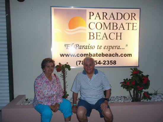 Combate Beach Resort: My parents at the Parador Entrance