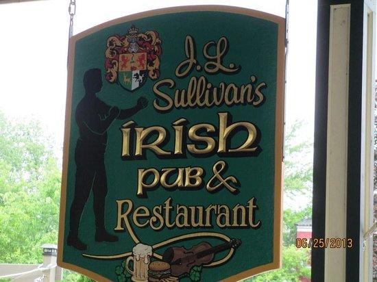 J L Sullivan's: J L Sullivan Sign