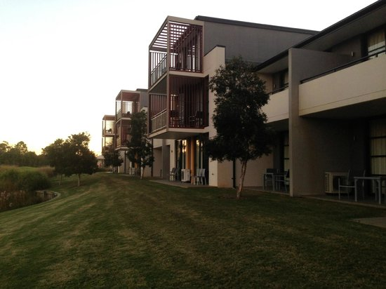 Mercure Kooindah Waters Central Coast: the rooms at the front overlooking the gold course