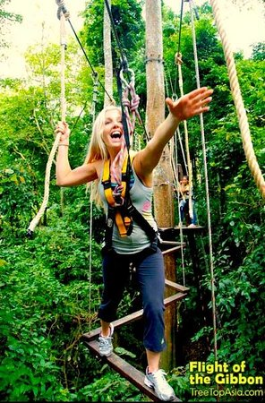 Flight of the Gibbon: Swinging through the obstacle course!