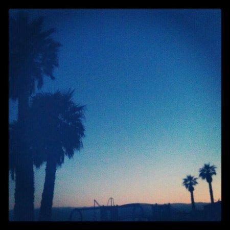 Jalama Beach County Park: Sunset from camp.