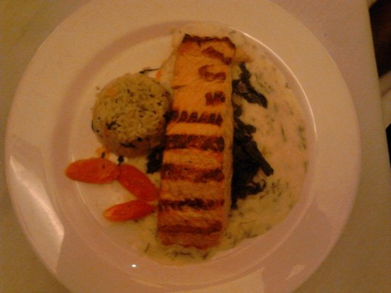 Nikolas: My husband's entree consisting of grilled salmon