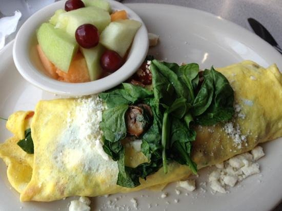 Weather Vane: feta spinach omelet