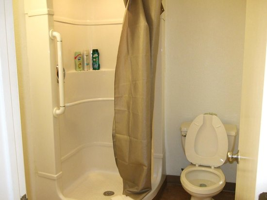 Motel 6 Galveston : Shower area & toilet (that's all that was in there)