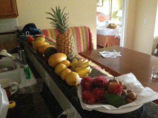 Marriott's Waiohai Beach Club: Fruit -- looks, it matches the decor!