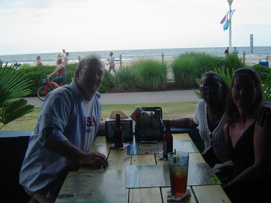 Calypso Bar and Grill: me and wife with traveling friend (afternoon)
