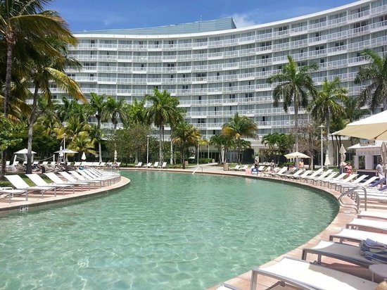 Grand Lucayan Bahamas View From Main Pool By Hammerheads Bar