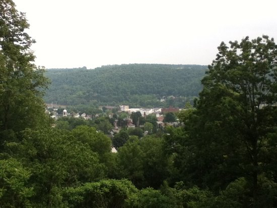 The Overlook Mansion: View of town