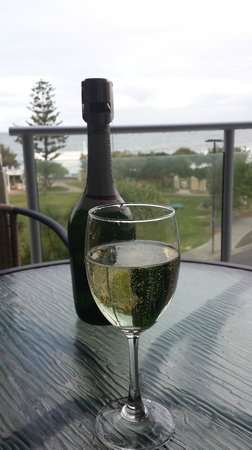 ULTIQA Shearwater Resort: glass of wine on the balcony