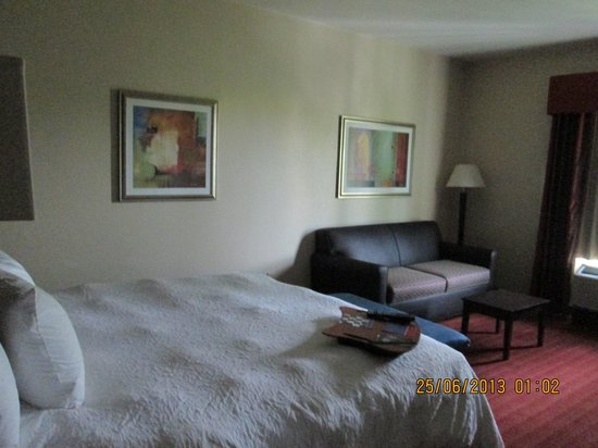 Hampton Inn & Suites Phoenix North/Happy Valley: cama giagante