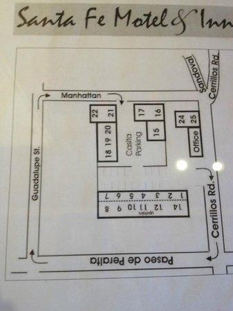 Santa Fe Motel and Inn: Hotel/Room Layout