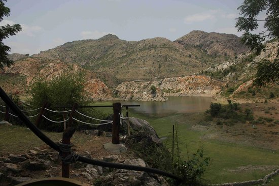 Aravali Silence Lakend Resorts & Adventures: Lake seen from the room