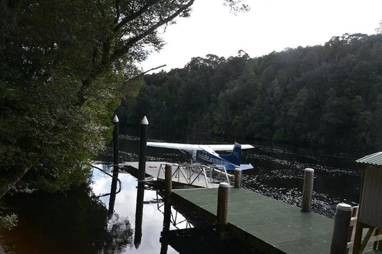 Strahan Seaplanes and Helicopters: At the landing at St John's Falls