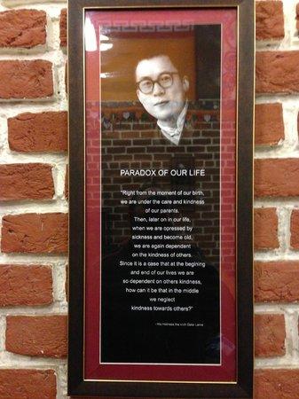 Momos Tibetan Restaurant: Dalai Lama