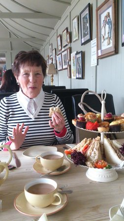 Moulton Nurseries Garden Centre and Coffee Shop: Mother-In-Law enjoying Afternoon Tea