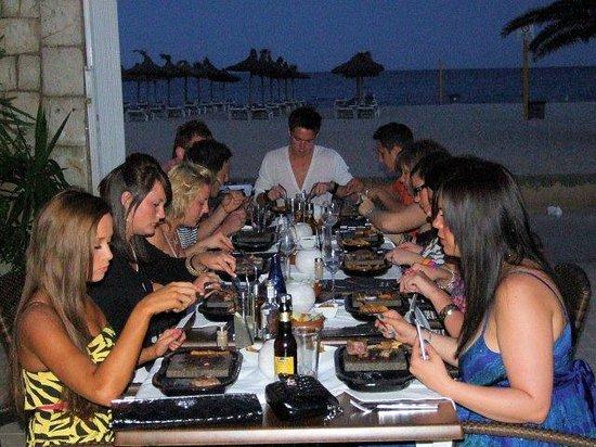 Palm Beach Restaurant: Enjoying the Black Rock Grill on the terrace
