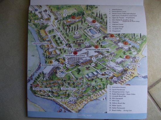 Messonghi Beach Resort: План отеля