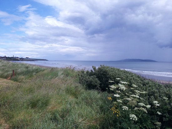 Donabate, Ireland: Northwards from public pathway
