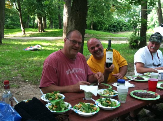 Dinner at Indian Head Campground.