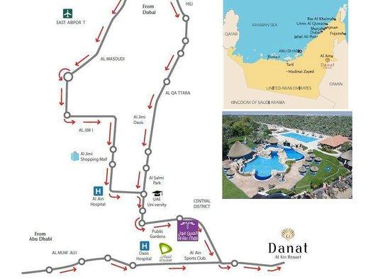 Hotel Map Picture Of Danat Al Ain Resort Al Ain TripAdvisor - Al ain map
