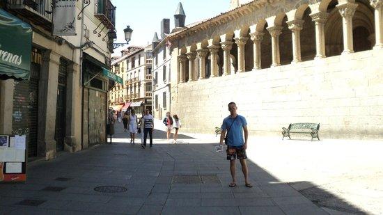 Calle Real de Segovia: Me in the shade